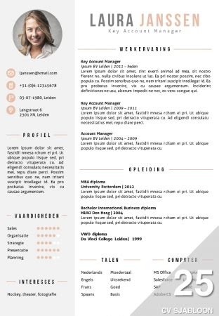 Best Latex Resume Template by Cv Sjabloon Bestellen