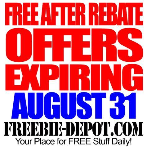 rebate free free after rebate offers expiring 8 31 14 freebie depot