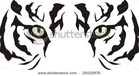 printable tiger eyes tiger eyes outline clipart