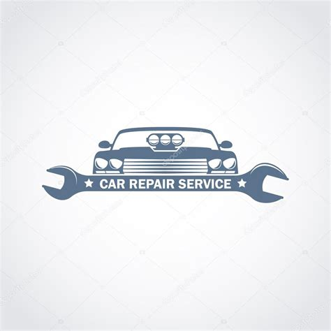 car service logo car repair service monochrome logo stock vector 169 ribz