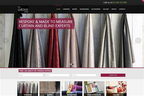the curtain shoppe website design seo for the curtain shop in kettering