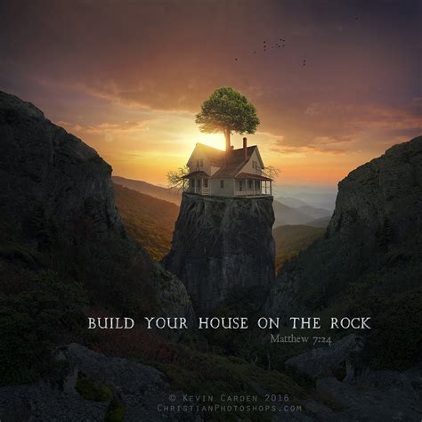 build your house on the rock build your house on the rock by kevron2001 on deviantart