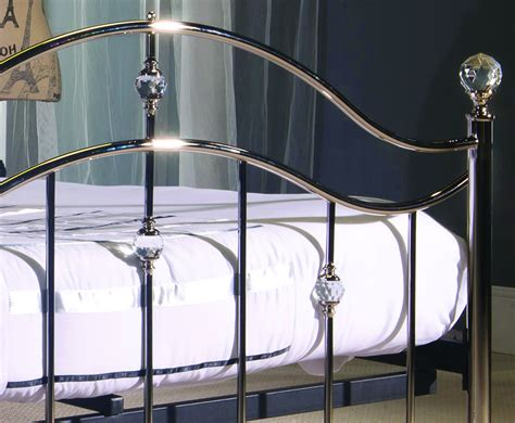 crystal bed swann chrome metal crystal bed frame