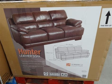 Simon Li Hunter Leather Sofa Simon Li Leather Sofa Costco