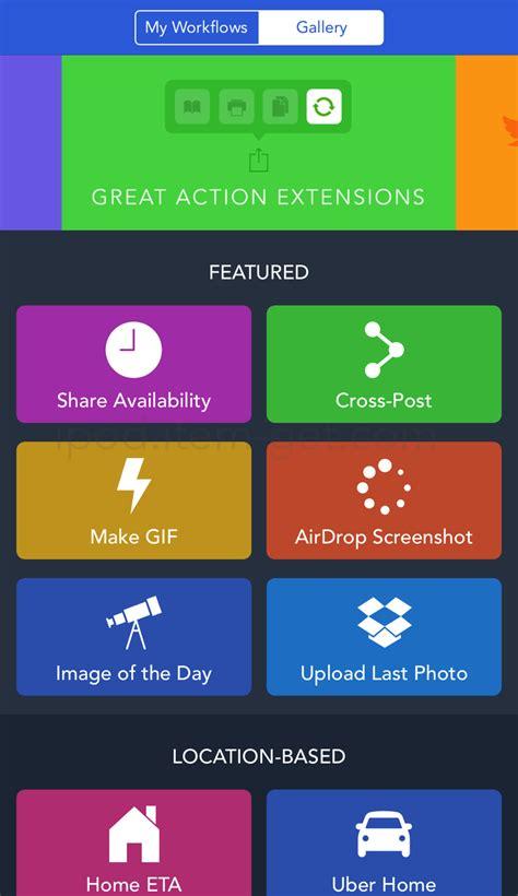 ios workflow iphone ipadの作業を自動化できるiosアプリ workflow ipod