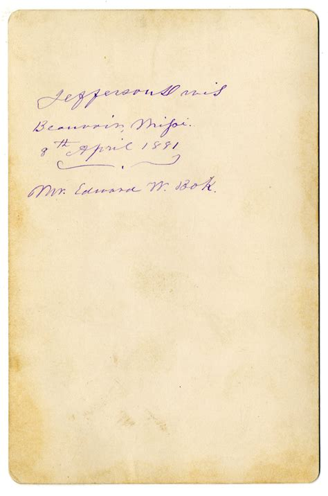 Jefferson Davis Cabinet by Lot Detail Jefferson Davis Signed Cabinet Photo