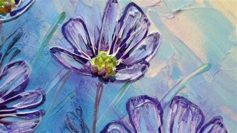 quadri astratti fiori fiori viola margherite vendita quadri quadri