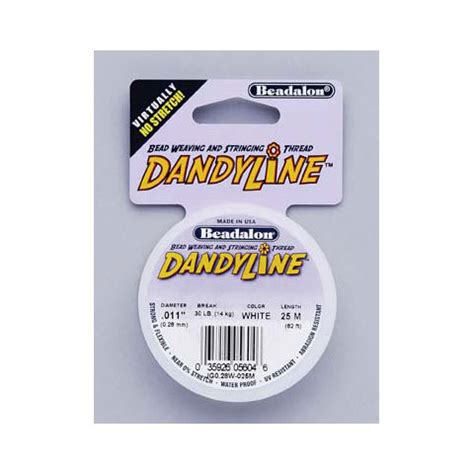 dandyline beading thread beadalon beading thread dandyline 28 white 25 meter