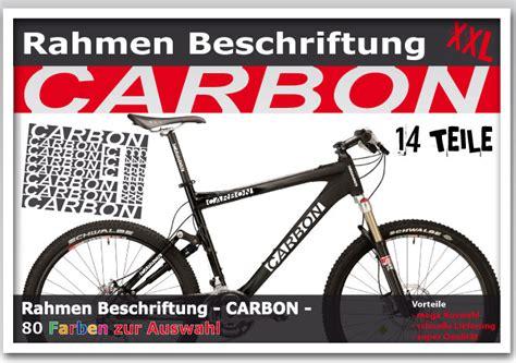 Fahrrad Aufkleber Carbon by Fahrrad Rahmen Beschriftung Carbon Aufkleber Set F 252 R