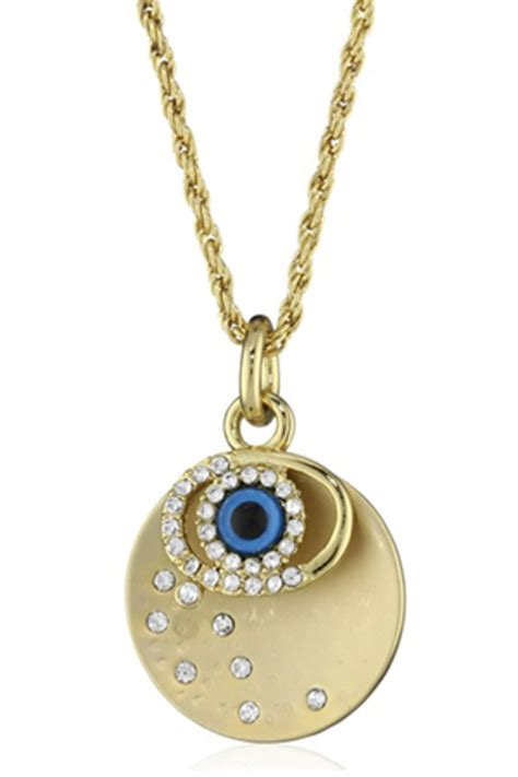 andrew hamilton evil eye charm necklace from