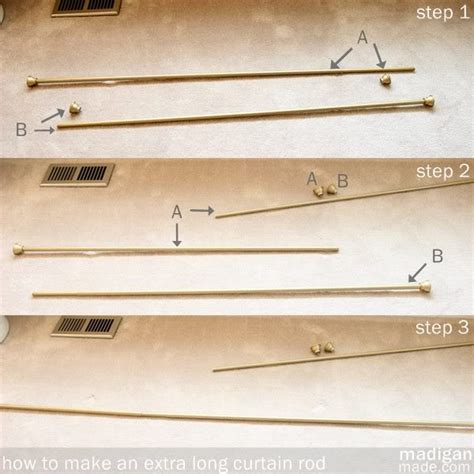 how long should a curtain rod be extra long curtain rods my best buys