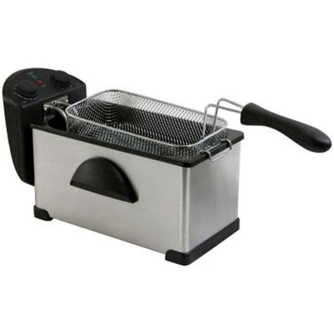 amerihome 3 qt fryer hs07567 the home depot