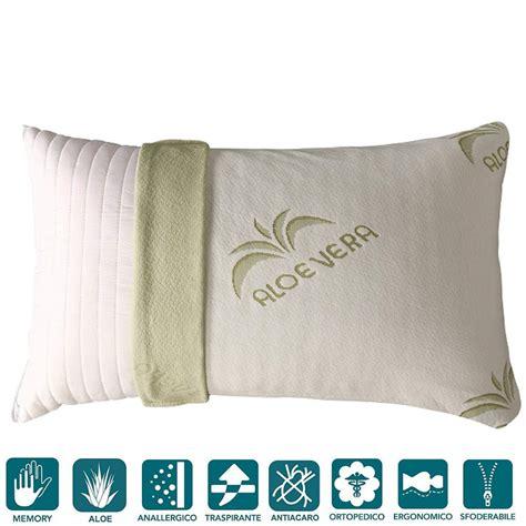 cuscini aloe vera cuscino fiocco di memory tessuto aloe vera