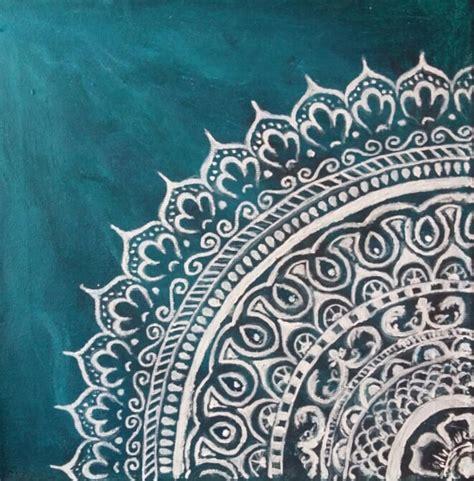Wood Texture Painting - jade mandala painting by jennie hallbrown