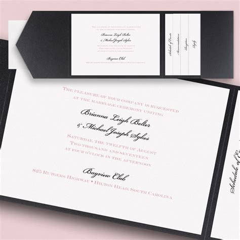wedding invitation with pocket pocket wedding invitations flamingo