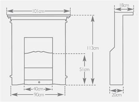 standard fireplace size brunel 1a dimensions crafts
