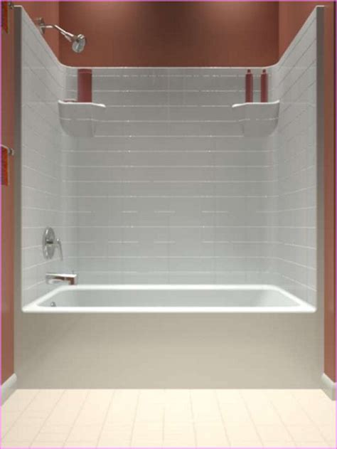 bathtub shower combo one home design ideas