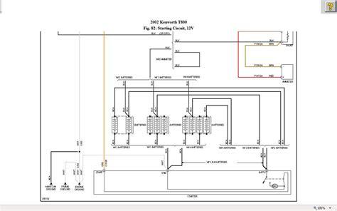 2002 t800 kenworth i need the starter circuit wiring diagram