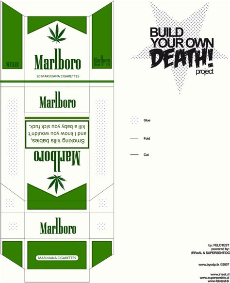 How To Make A Cigarette Box Out Of Paper - marlboro 4 20 make your own by cweiler on deviantart