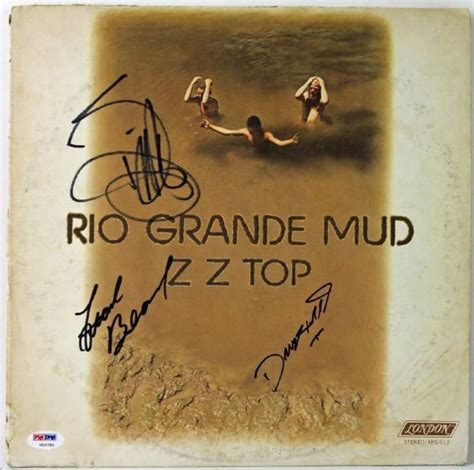 lot detail zz top billy gibbons signed quot lot detail zz top signed quot grande mud quot record