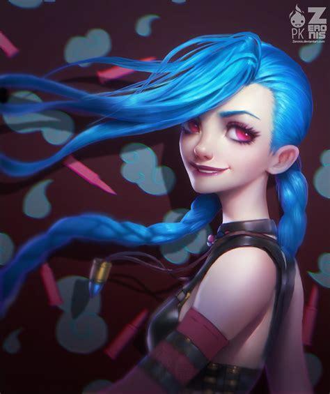 cool jinx wallpaper jinx portrait fan art zeronis pk by zeronis on deviantart