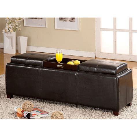 storage ottoman plans storage ottoman bench with trays home design ideas