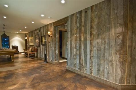 barnwood walls  stained concrete floor cool