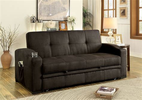 furniture of america sofa mavis dark brown futon sofa from furniture of america