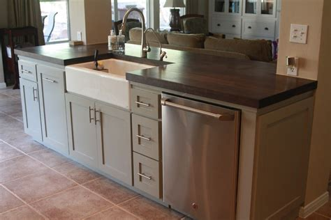 small kitchen island with sink and dishwasher kitchen