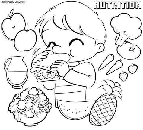 nutrition alphabet coloring pages nutrition coloring pages educational coloring pages