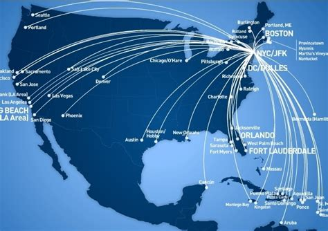 jetblue route map jet blue american airlines anlaşı kafaları karıştırdı havayolu 101