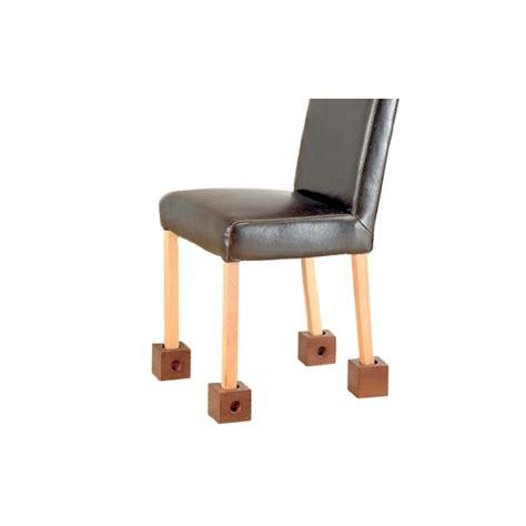 rehausseur pied de chaise lot de 4 r 233 hausseurs de chaise blox accessoires literie