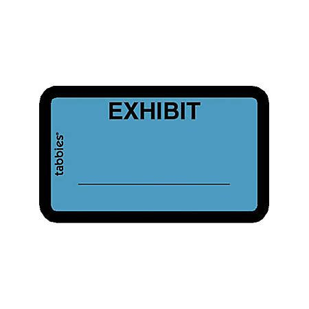 Tabbies Color Coded Legal Exhibit Labels 1 58 Width X 1 Length Blue 252 Pack By Office Depot Tabbies Exhibit Labels Template