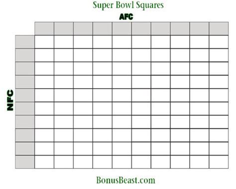 bowl grid template printable bowl square grid superbowl tailgating