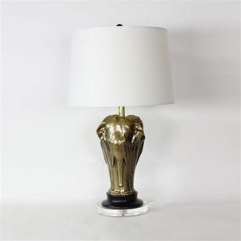 Anglo Rugs by Stylized Patinated Metal Elephant Lamp
