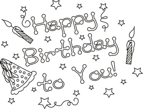 coloring pages for happy birthday happy birthday coloring pages 360coloringpages