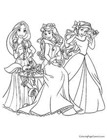 Disney Princesses 10 Coloring Page Coloring Page Central Princess Black And White Coloring Pages Printable