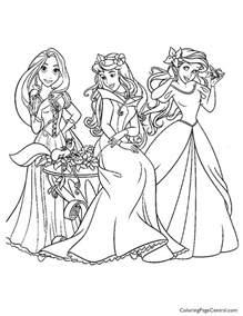Disney Princesses 10 Coloring Page Coloring Page Central Disney Princess Coloring Pages For Free Coloring Sheets