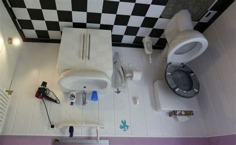 reuters bathroom touring the upside down crazy house in germany