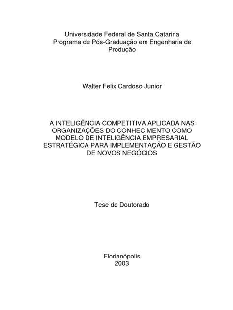 A INTELIGÊNCIA COMPETITIVA APLICADA NAS ORGANIZAÇÕES DO