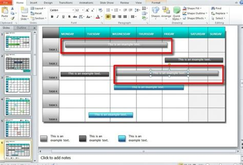 How To Make A Calendar In Powerpoint 2010 Using Shapes And Tables Calendar Template For Powerpoint