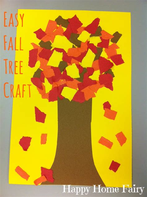 Construction Paper Fall Crafts - easy fall tree craft happy home