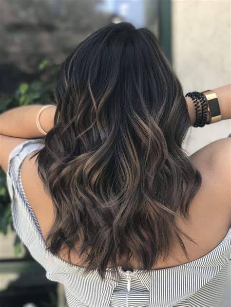 pictures off ash blonde hair dark brown hairs picture of black hair with dark ash brown balayage to