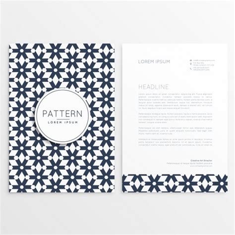 Business Letterhead Vector Free Business Letterhead Template In Tile Style Vector Free