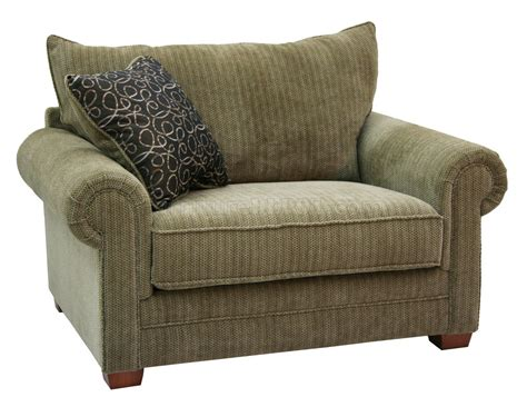 Multi Tone Chenille Fabric Modern Sofa Loveseat Set W