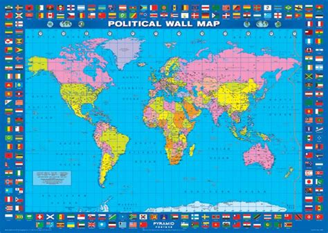 map world poster map posters political world map poster pp0467 panic
