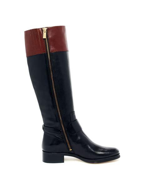 michael kors fulton harness boots michael kors fulton harness boot in black lyst