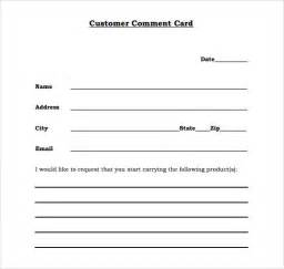 comment cards templates 8 comment cards psd pdf word
