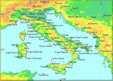 map of italy and surrounding countries climatological information for italy and neighbouring
