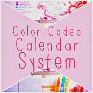 color coded calendar organized charm color coded calendar system